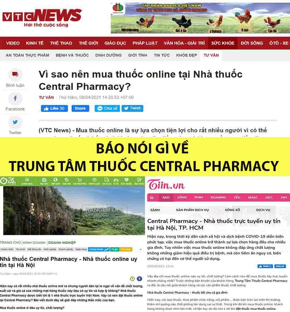 Kênh truyền thông nói về Trung Tâm Thuốc Central Pharmacy