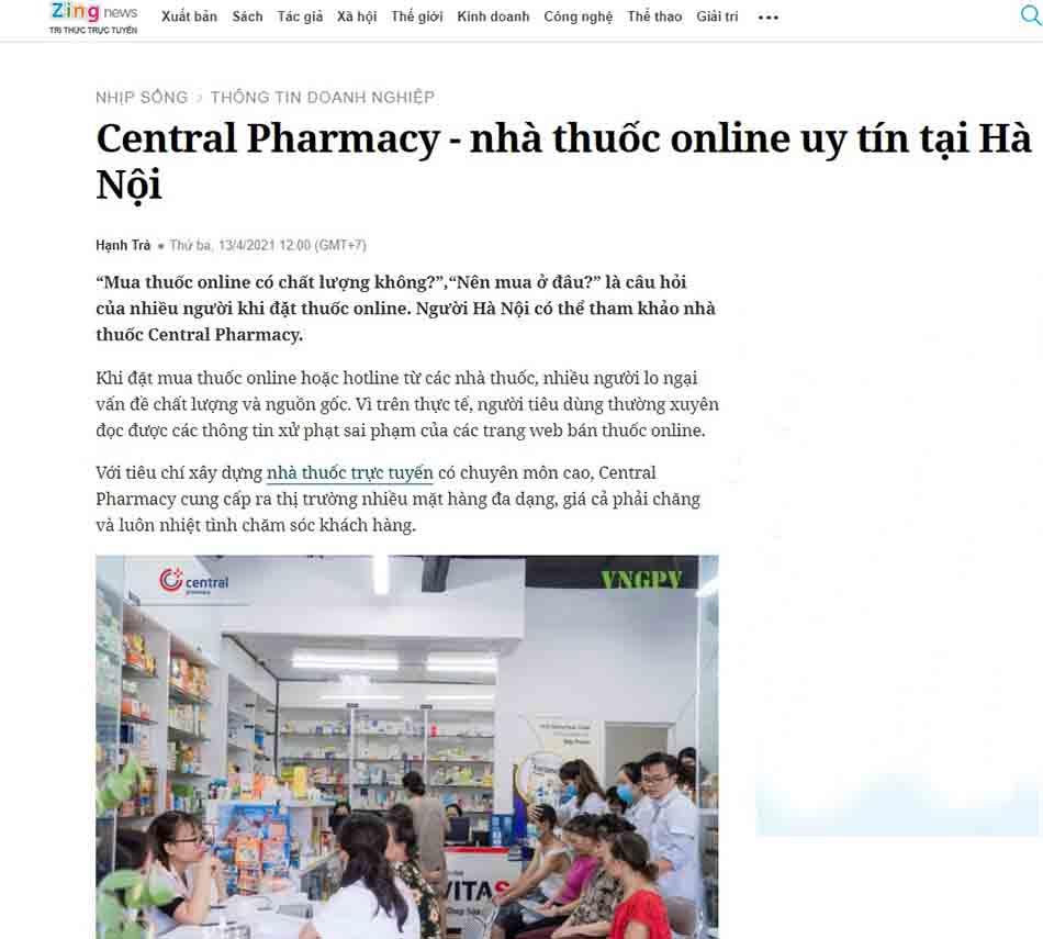 Trung Tâm Thuốc Central Pharmacy trên báo Zingnews