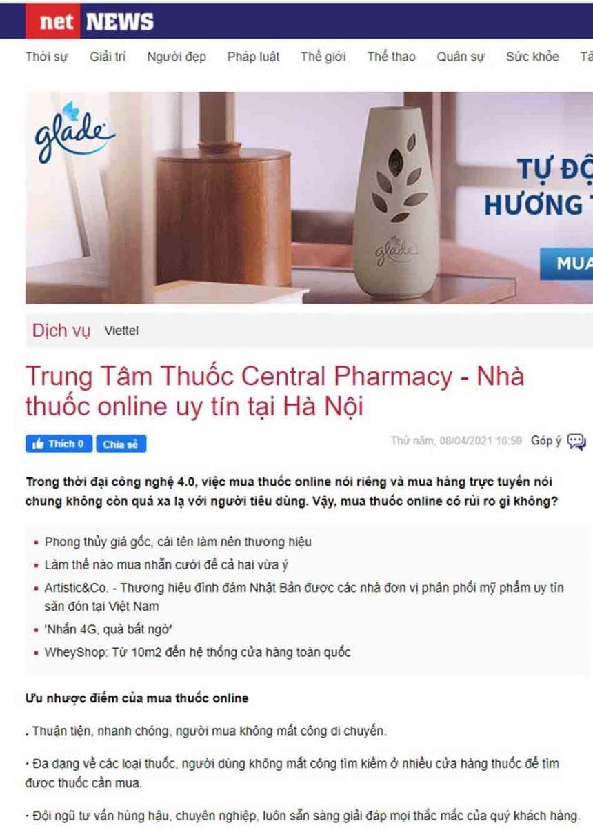 Trung Tâm Thuốc Central Pharmacy - Nhà thuốc online uy tín tại Hà Nội