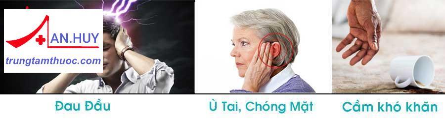 chóng mặt ù tai cầm nắm khó khăn gây tai  biến mạch máu não